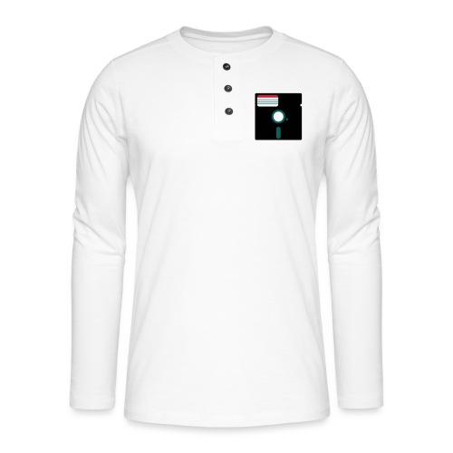 5 1/4 inch floppy disk - Henley pitkähihainen paita