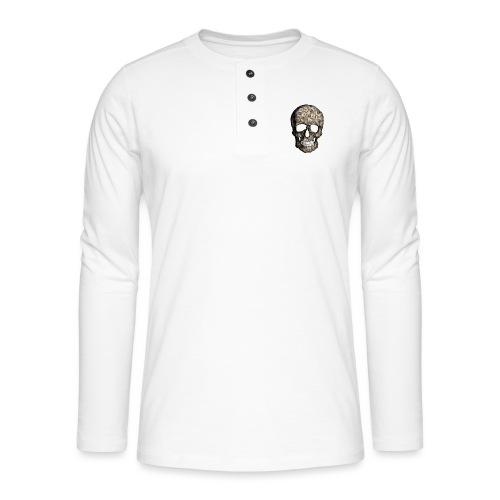 Skull Money - Camiseta panadera de manga larga Henley