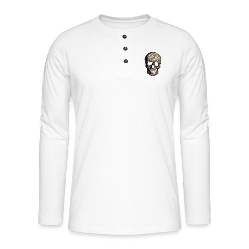 Skull Money Black - Camiseta panadera de manga larga Henley