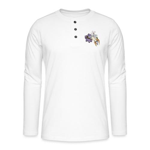 Spring Doodle - Henley shirt met lange mouwen