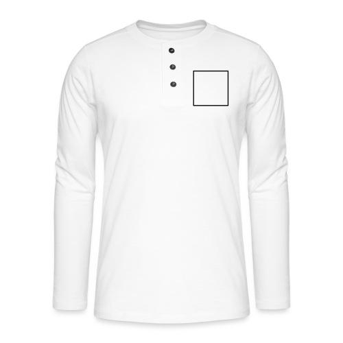 Square t shirt black - Henley shirt met lange mouwen