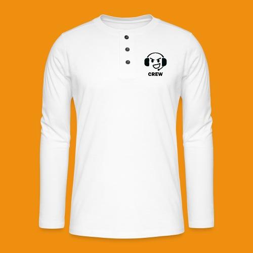 T-shirt-front - Henley T-shirt med lange ærmer