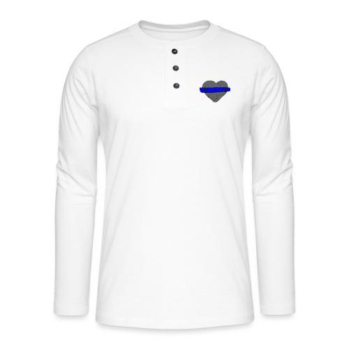 serduszko blu - Koszulka henley z długim rękawem