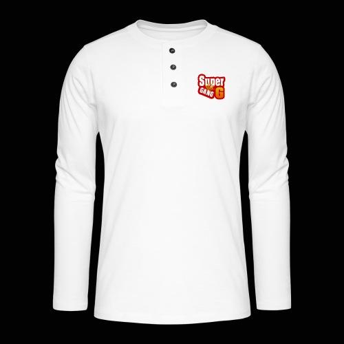 SuperG-Gang - Henley T-shirt med lange ærmer