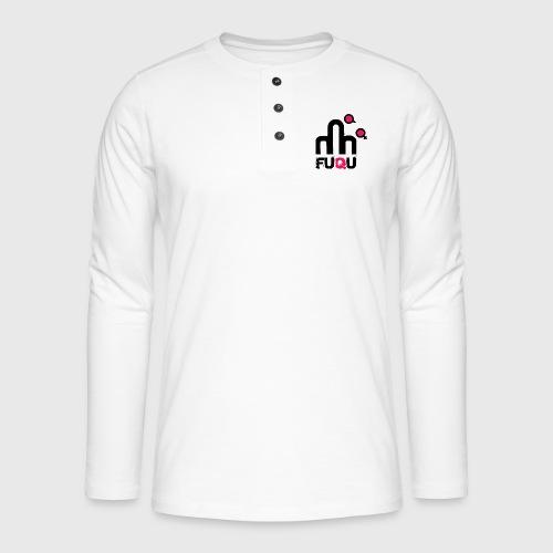 T-shirt FUQU logo colore nero - Maglia a manica lunga Henley