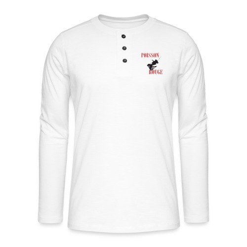 poisson rouge - T-shirt manches longues Henley