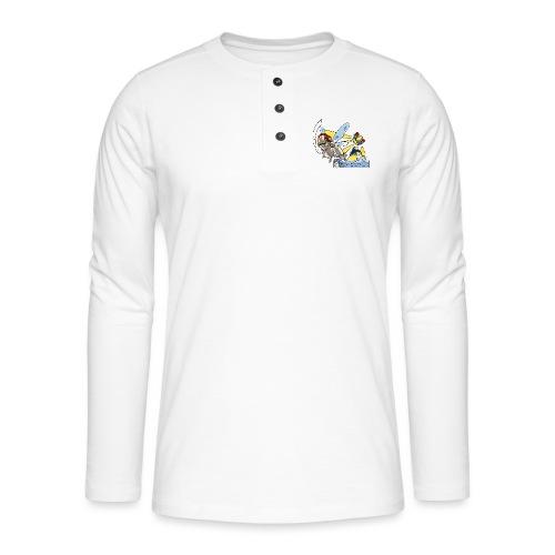 Sunshine buzz - Henley shirt met lange mouwen