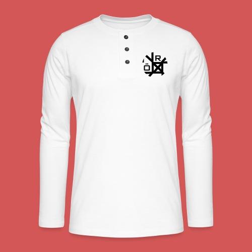 Nörthstat Group™ TecH | iCon - WHT.Knapsack - Henley long-sleeved shirt