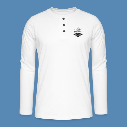 Moto - Life is better on the road - T-shirt manches longues Henley