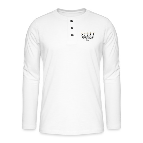 Freedom Dobby - T-shirt manches longues Henley