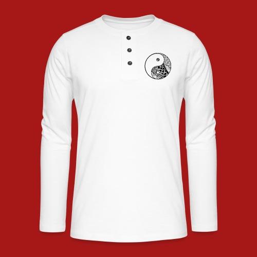 Decorative-Yin-Yang - Henley T-shirt med lange ærmer
