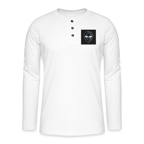 LogoMain2 - Henley T-shirt med lange ærmer