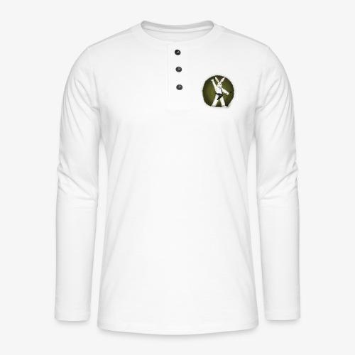 Metal Bunny - Henley langermet T-skjorte