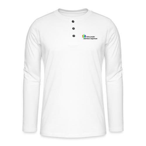 i help people - Henley shirt met lange mouwen