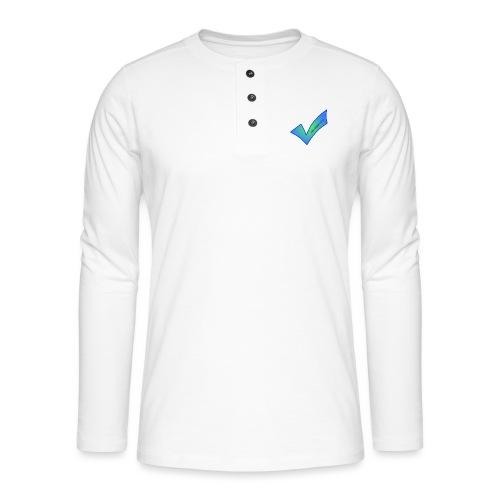 Thetwoboys_Designs - Henley T-shirt med lange ærmer