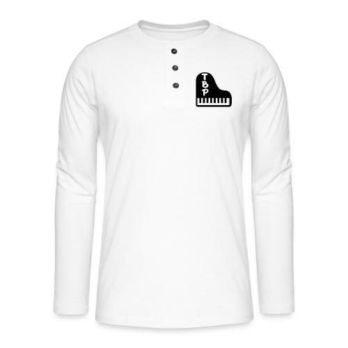 Logo TheBreakPianiste (Version noir) - T-shirt manches longues Henley