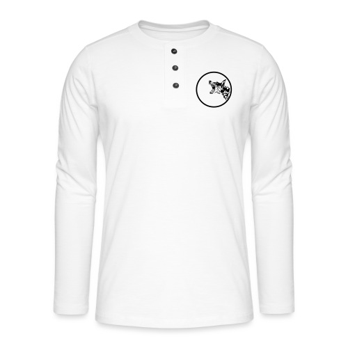 dog in a circle frame - T-shirt manches longues Henley