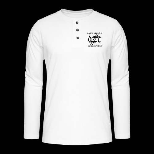 Dark-Code Black Gothic Logo - T-shirt manches longues Henley