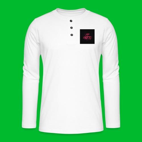 Ppppeetu logo - Henley pitkähihainen paita