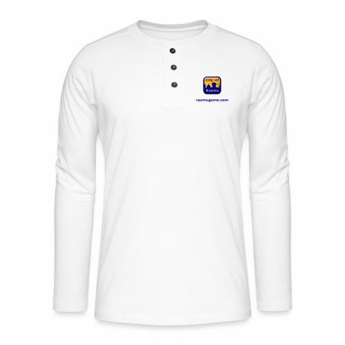 Raumagame logo - Henley pitkähihainen paita