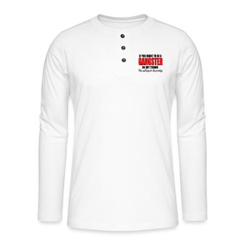 ville gangster - T-shirt manches longues Henley