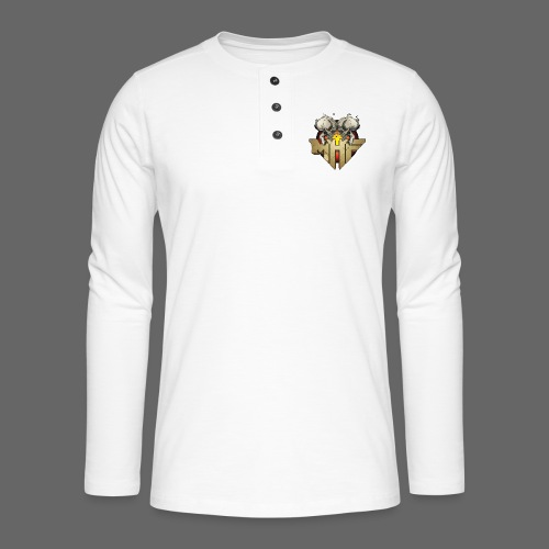 new mhf logo - Henley long-sleeved shirt