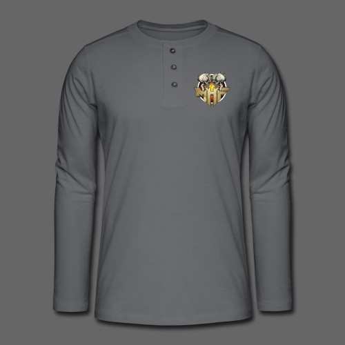 new mhf logo - Henley long-sleeved shirt