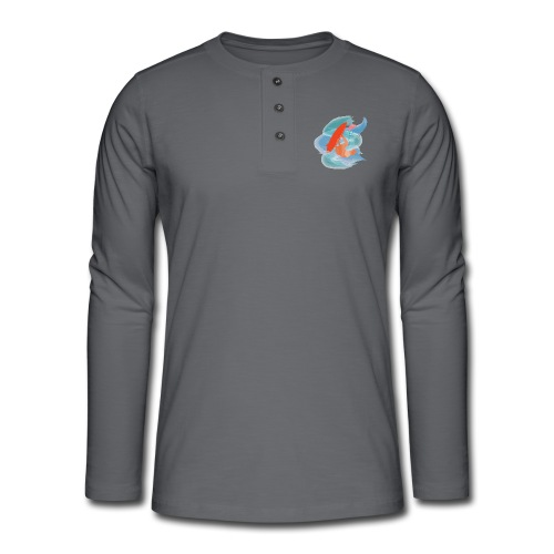 Zensitivity - kiteboard - Henley shirt met lange mouwen