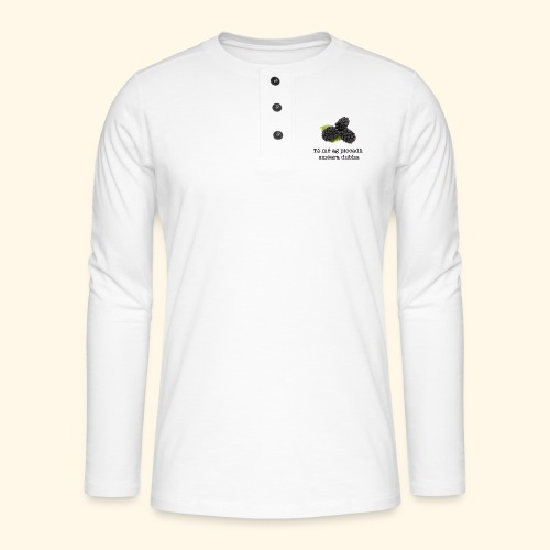Picking blackberries - Henley long-sleeved shirt