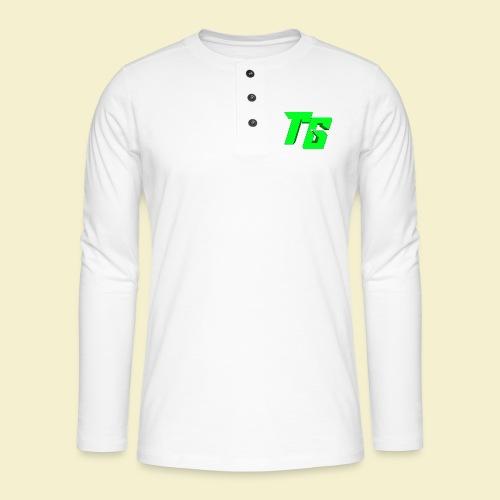 TristanGames logo merchandise [GROOT LOGO] - Henley shirt met lange mouwen
