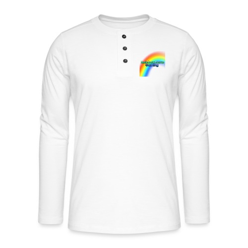 RainbowDave Gaming Logo - Henley long-sleeved shirt