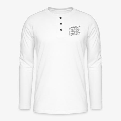 De 'Nooit Meer Gezeik' merchendise - Henley shirt met lange mouwen
