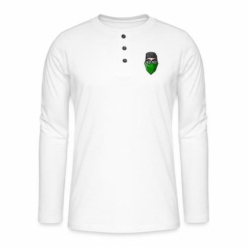 GBz bandana logo - Henley long-sleeved shirt