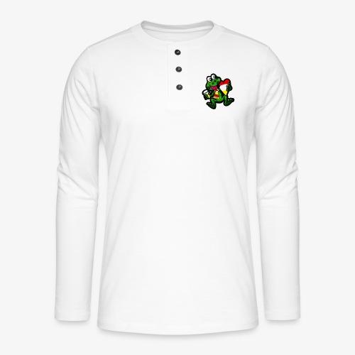 Oeteldonk Kikker - Henley shirt met lange mouwen