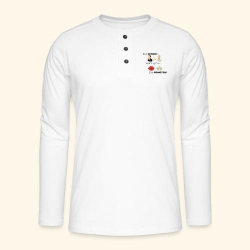 Echt-genoot, verleden tijd van ECHT-GENIETEN - Henley shirt met lange mouwen