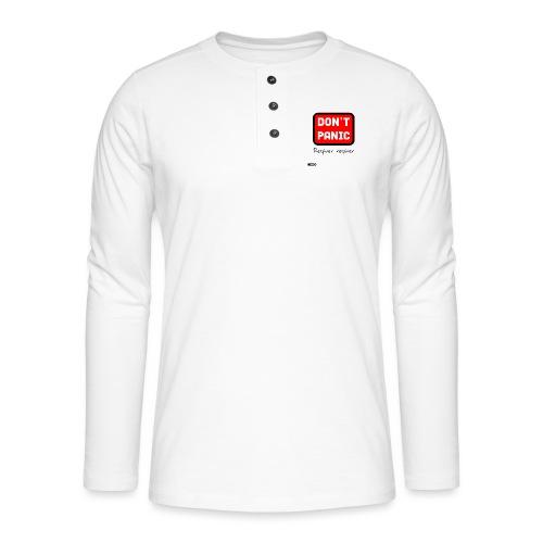 don't panic, respirer - T-shirt manches longues Henley