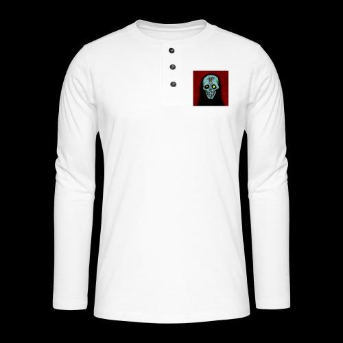 Ghost skull - Henley long-sleeved shirt