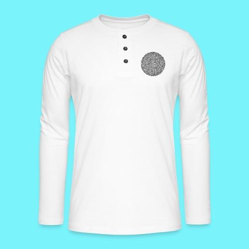 Fibonacci web with spirals - Henley long-sleeved shirt