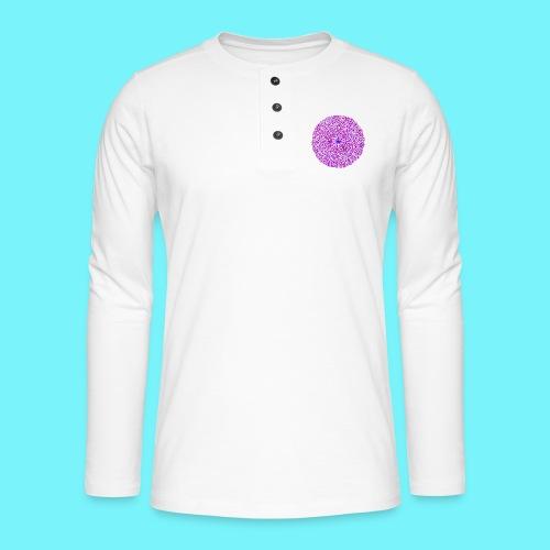 Fibonacci image with 4 fibonacci spirals - Henley long-sleeved shirt