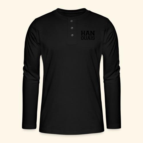 han ouais noir tribunal charleroi - T-shirt manches longues Henley