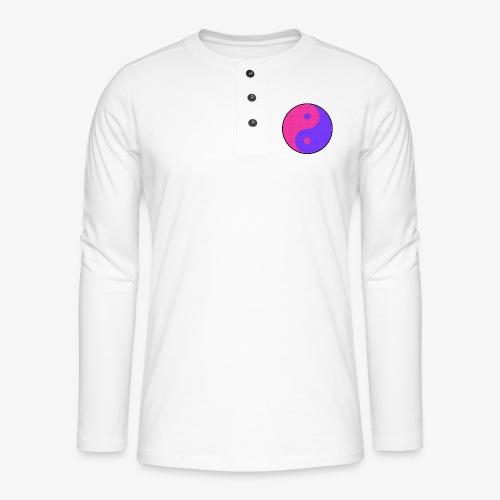 Yin Yang PinkBlue - Camiseta panadera de manga larga Henley