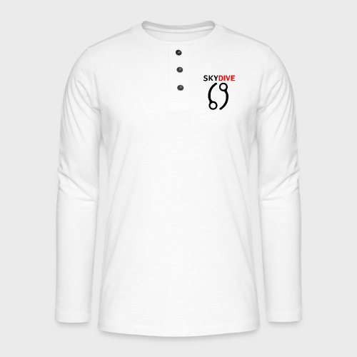 Skydive Pin 69 - Henley Langarmshirt