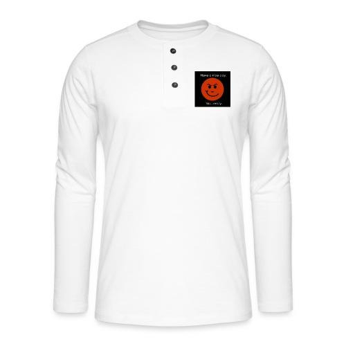 Have a nice day - Henley T-shirt med lange ærmer