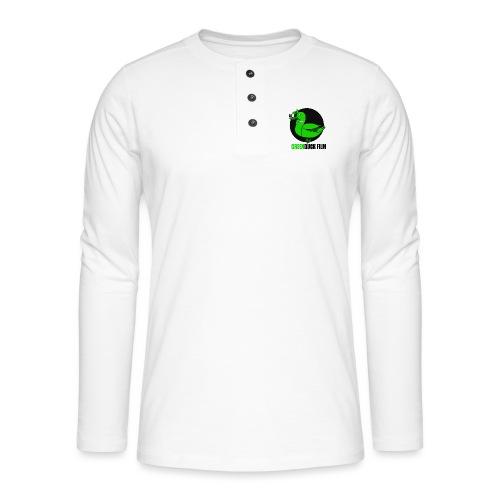 Greenduck Film Logo w. black letters - Henley T-shirt med lange ærmer