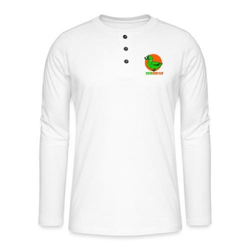 Greenduck Film Orange Sun Logo - Henley T-shirt med lange ærmer