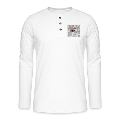 Osky - Camiseta panadera de manga larga Henley