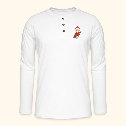 Sandmännchen winkt - Henley Langarmshirt
