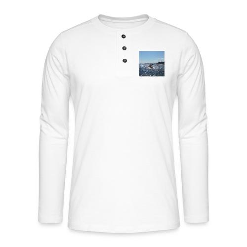 Mer avec roches - T-shirt manches longues Henley