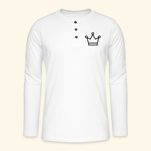 The Queen - Henley T-shirt med lange ærmer