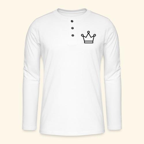 The Queen - Henley T-shirt med lange ærmer